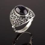 Серебряное кольцо. Авантюрин