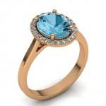 Кольцо c топазом и бриллиантами