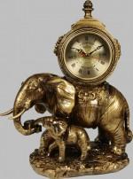 Бронзовая статуэтка с часами Слоны