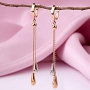 Золотые серьги - подвески