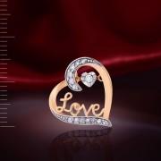 Танцующий Бриллиант - Подвеска Золотая Love
