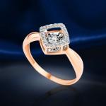 Кольцо с бриллиантом. Танцующий Бриллиант