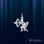"""Знак зодиака из серебра """"Стрелец"""" фигура"""