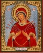 Русская Икона Семистрельная Богородица