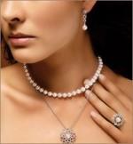 Ожерелье из морского жемчуга 45см