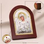 Семистрельная Божия Матерь, греческая икона, в серебряном окладе