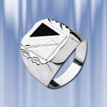 Мужское кольцо-печатка , серебро 925