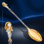 На Зубок Серебряная ложка Ангел