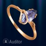 Кольцо из золота  с аметистом.
