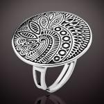 Кольцо Энигма серебряное