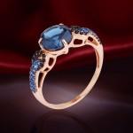 Серебряное кольцо. Нанотопаз лондон & наносапфир