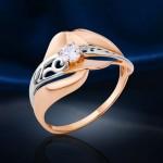 Кольцо золотое с кристаллами Swarovski®