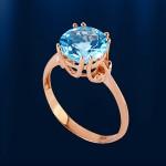 Кольцо с топазом. Русское золото