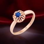 Сапфир корунд. Золотое кольцо