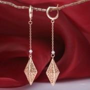 Золотые серьги - подвески. Русское золото