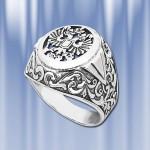 "Кольцо печатка из серебра ""Царь"""