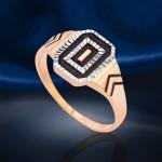 Перстень золотой. Эмаль