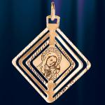 Икона Божией Матери из золота Квадрат