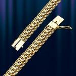 Золотая цепь браслет Австрийская Панцирная