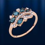 Кольцо с Топазом Лондон & Фианиты. Русское золото