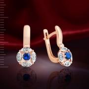 Сапфиры & Бриллианты. Золотые серьги