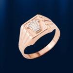 Золотой перстень мужской БАРОН