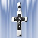 Нательный серебряный крест