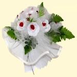 Свадебный букет бело-красный