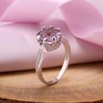 Серебряное кольцо Величество. Аметист