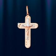 Крест с распятием русское золото