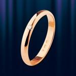 """Золотое обручальное кольцо """"Фея"""" с Бриллиантом"""