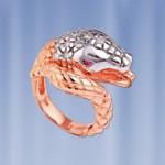 Кольцо Змейка серебряное