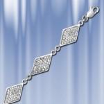Серебряный браслет с цирконом