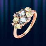 Золотое кольцо со шпинелью