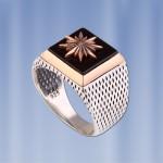 Перстень печатка серебряная