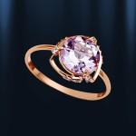 Кольцо с Аметистом. Русское золото