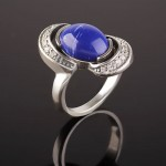 Кольцо серебряное. Лазурит