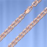 Серебряная цепочка Бисмарк с позолотой