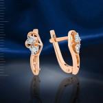 Серьги с бриллиантами Русское золото