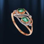 Золотое Кольцо Хризопраз Фея
