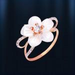 Кольцо с перламутром НЕВЕСТА. Русское золото
