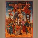 Икона Рукописная Снятие с Креста