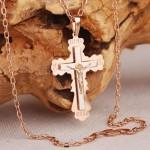 Цепочка с крестиком. Русское золото