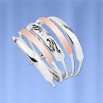 Серебряное кольцо Аризона. Золото & Серебро