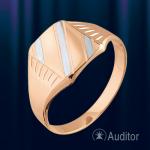 """Мужское кольцо перстень """"Клан"""" золотой"""