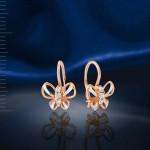 Серьги Бабочки. Русское золото