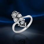 Кольцо из серебра. Кристаллы Swarovski®
