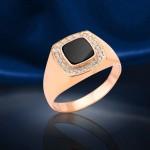 Перстень золотой с фианитами Супер цена!