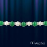 Ожерелье и браслет из жемчуга и нефрита