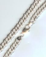 Цепь серебряная Панцирная двойная 50